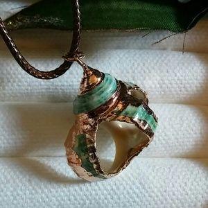 boho gilded seashell necklace